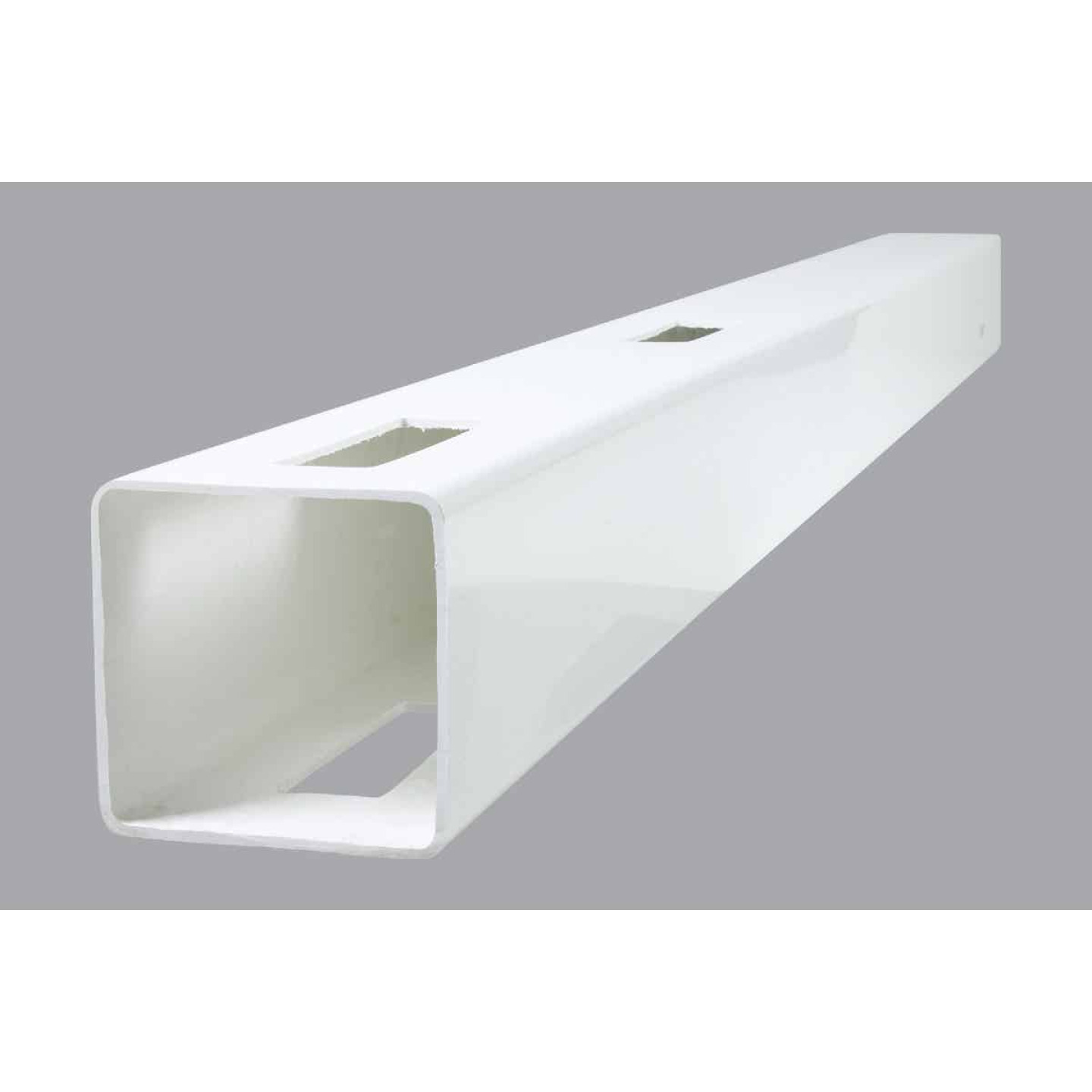 Outdoor Essentials 5 In. x 5 In. x 60 In. White Line 2-Rail Fence Vinyl Post Image 1