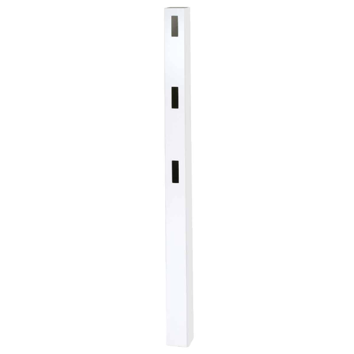 Outdoor Essentials 5 In. x 5 In. x 84 In. White End 3-Rail Fence Vinyl Post Image 3