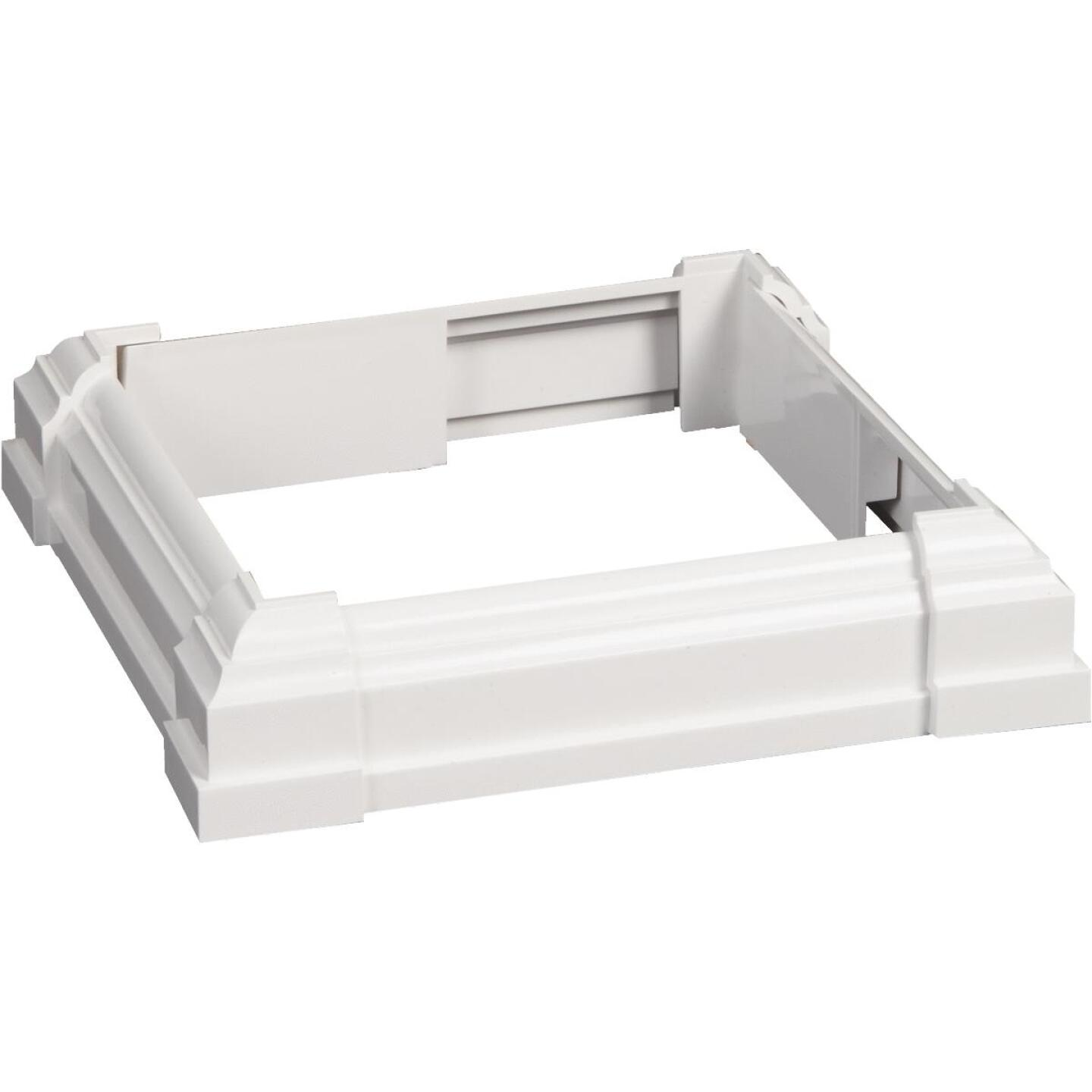Beechdale 6 In. W. x 6 In. L. PVC White Post Trim Collar Image 1