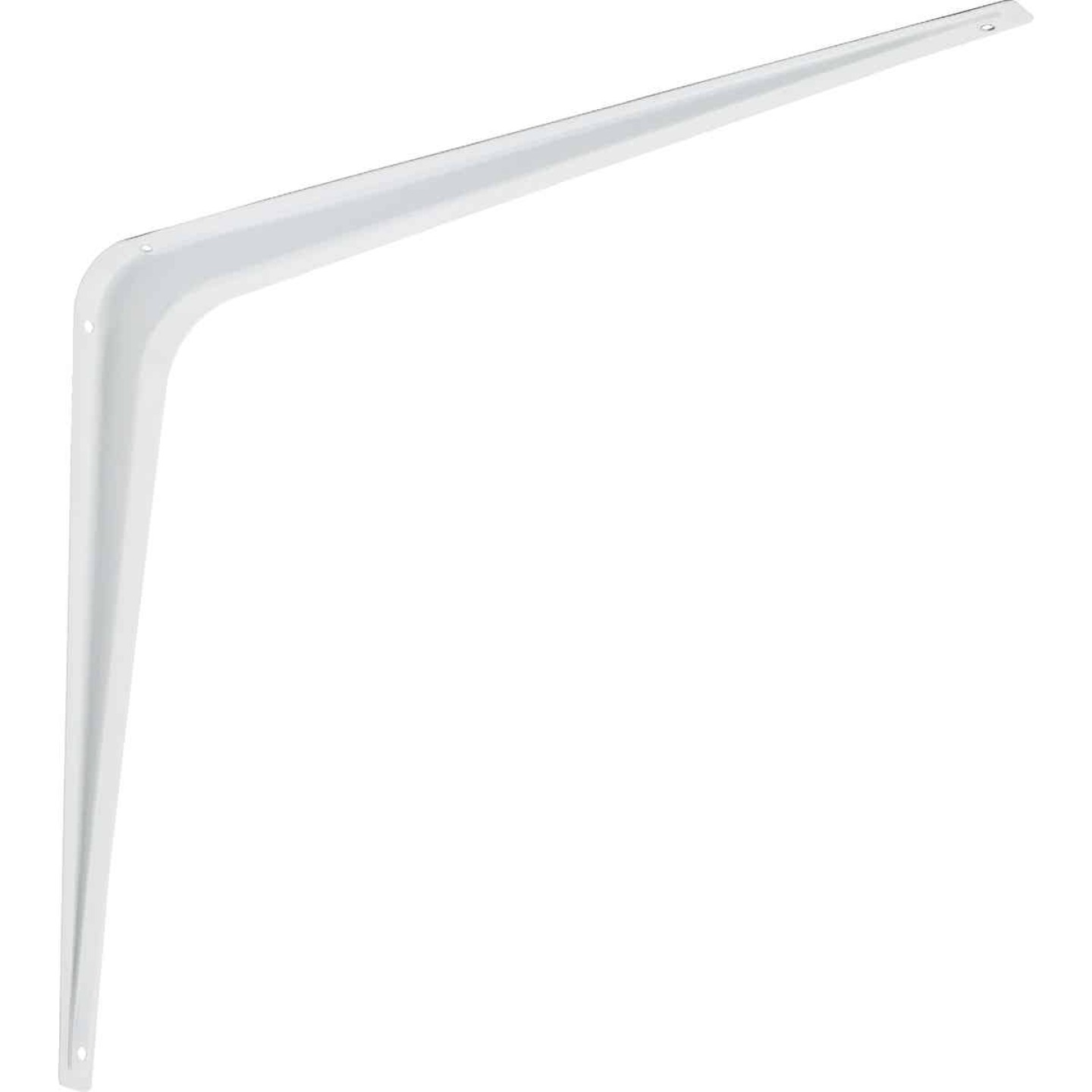 National 211 12 In. D. x 14 In. H. White Steel Shelf Bracket Image 1