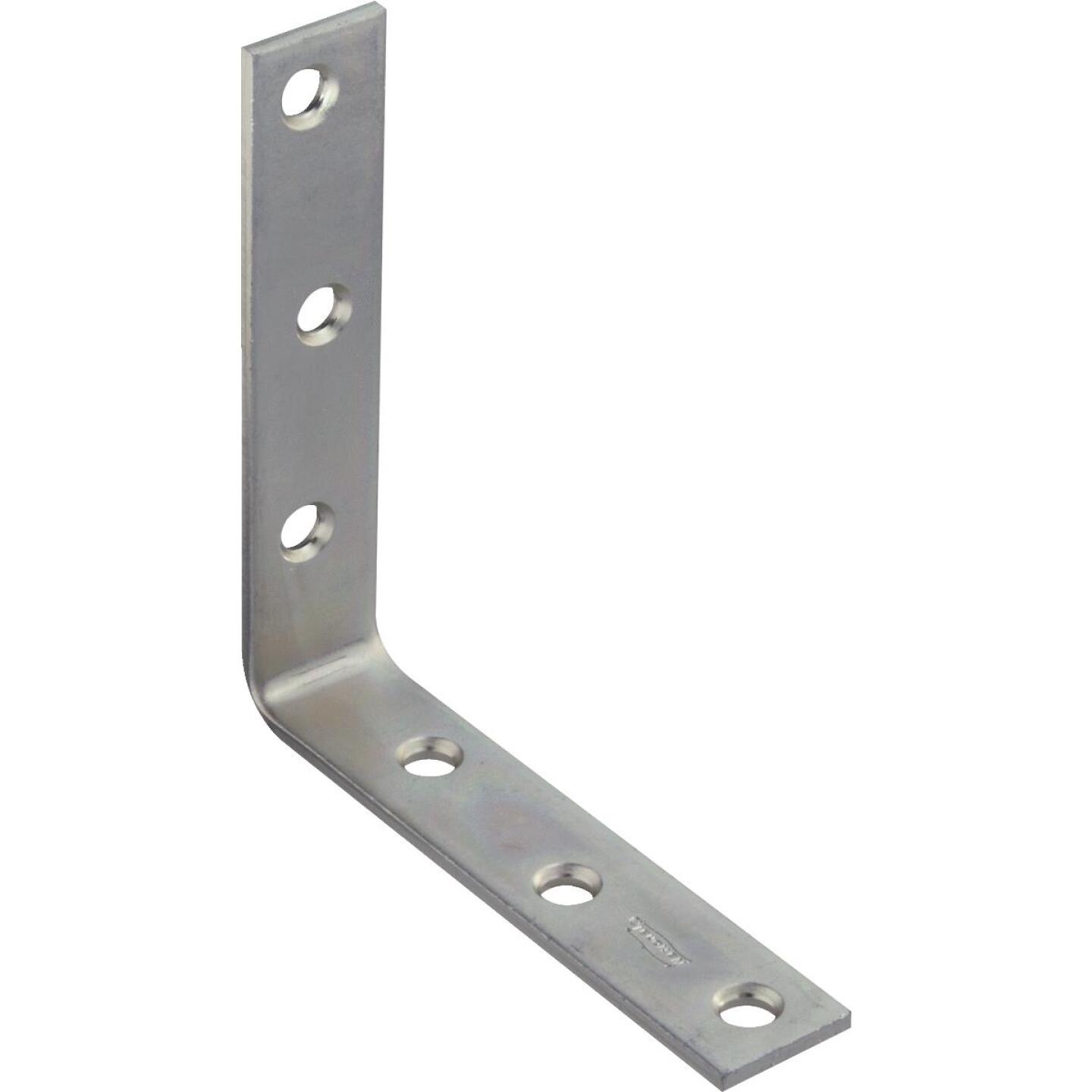 National Catalog 115 5 In. x 1 In. Zinc Corner Brace Image 1