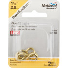 National 1-1/8 In. Brass Light Closed S Hook (2 Ct.) Image 2