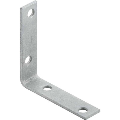 National Catalog V115 3 In. x 3/4 In. Galvanized Steel Corner Brace (4-Count)