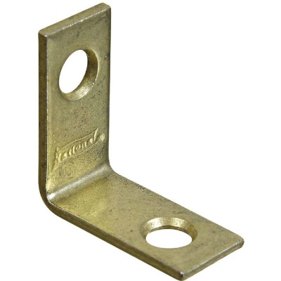 National Catalog V115 1 In. x 1/2 In. Brass Steel Corner Brace (4-Count)