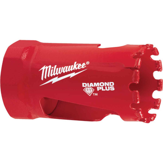 Milwaukee Diamond Plus 1-1/8 In. Diamond Grit Hole Saw
