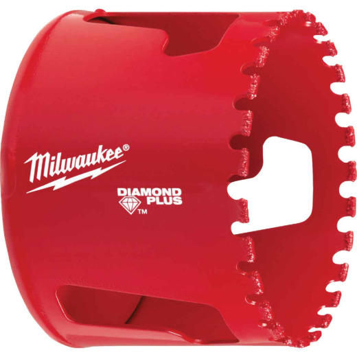 Milwaukee Diamond Plus 2-1/2 In. Diamond Grit Hole Saw