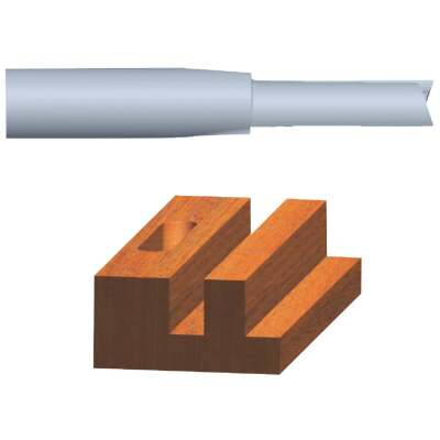 Vermont American Carbide Tip 3/4 In. Straight Bit