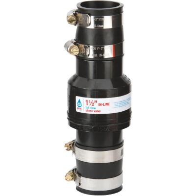 Drainage Industries 1-1/2 In. ABS Thermoplastic In-Line Sump Pump Check Valve