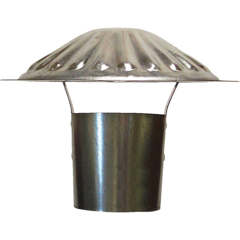 S & K Galvanized Steel 3 In. x 6-3/4 In. Vent Pipe Cap Image 1