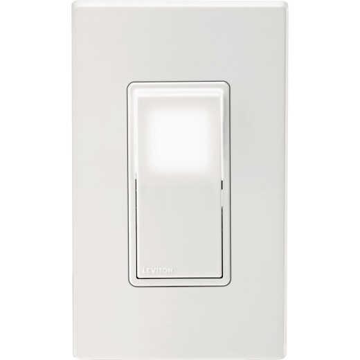 Leviton Decora 15A 120V/277V White LED Illuminated Rocker Switch