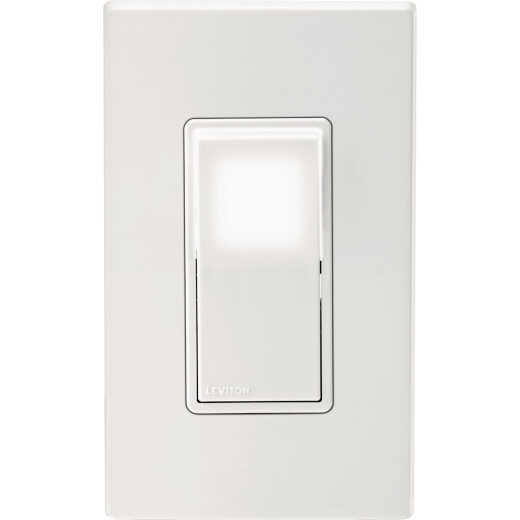 Leviton Decora 15A 120V/277V White LED Illuminated 3-Way Rocker Switch