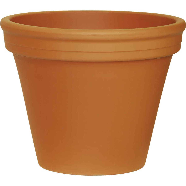 Ceramo 9-3/4 In. H. x 12-1/4 In. Dia. Terracotta Clay Standard Flower Pot Image 1