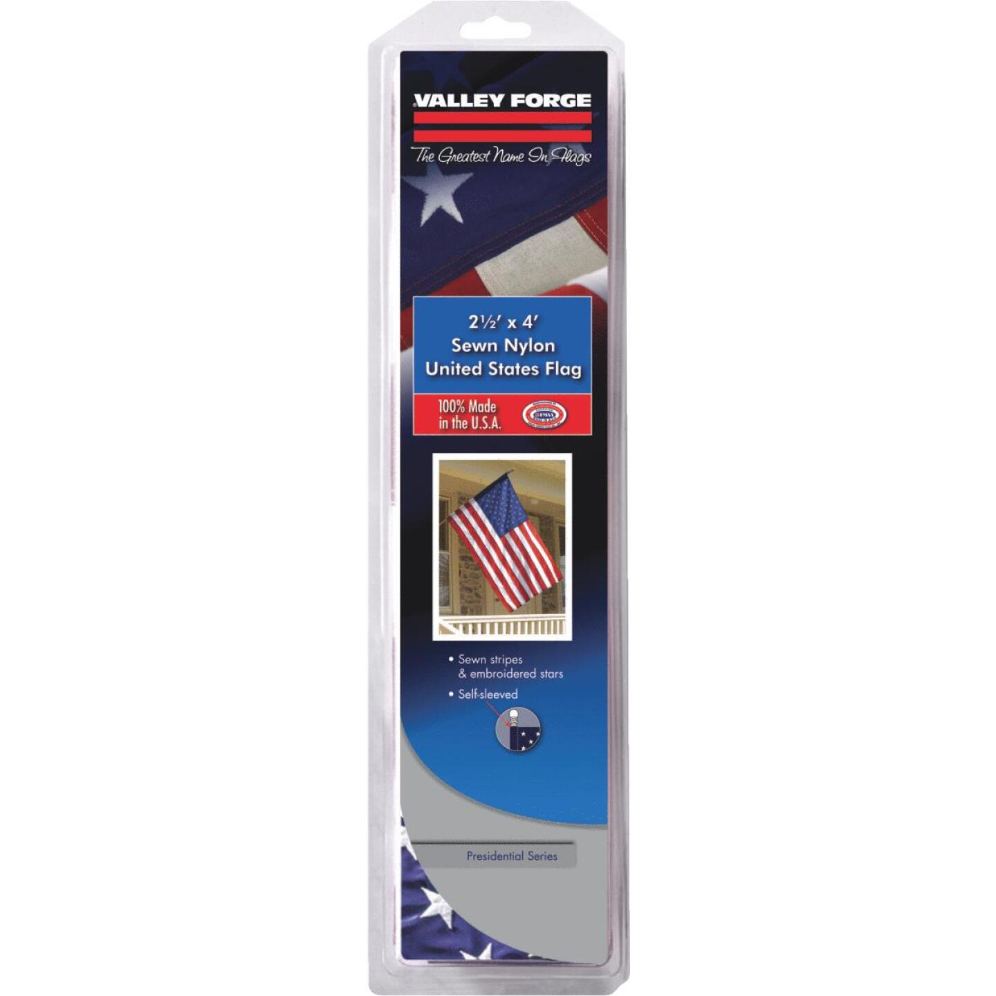 Valley Forge 2.5 Ft. x 4 Ft. Nylon Presidential Series American Flag Image 2