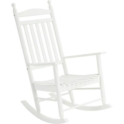 Knollwood White Wood Rocking Chair