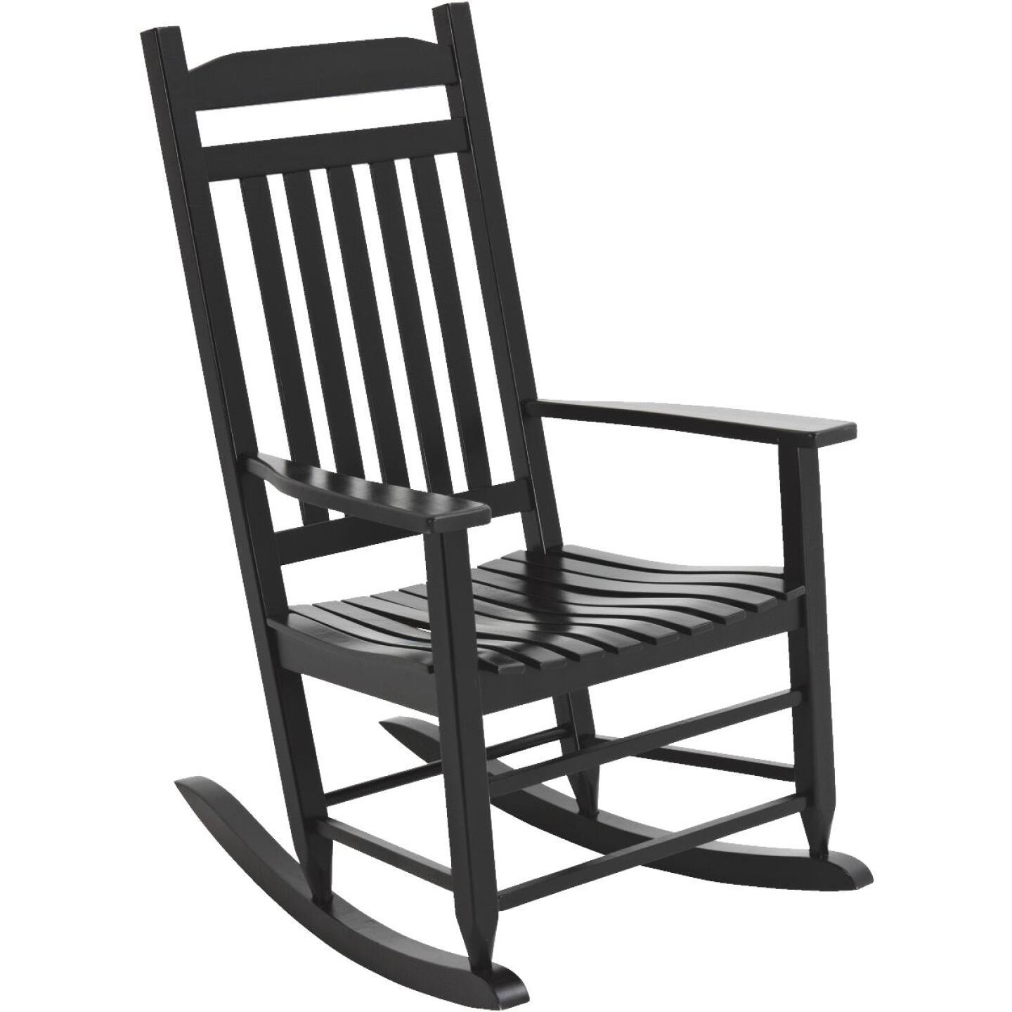 Knollwood Black Wood Mission Rocking Chair Image 1