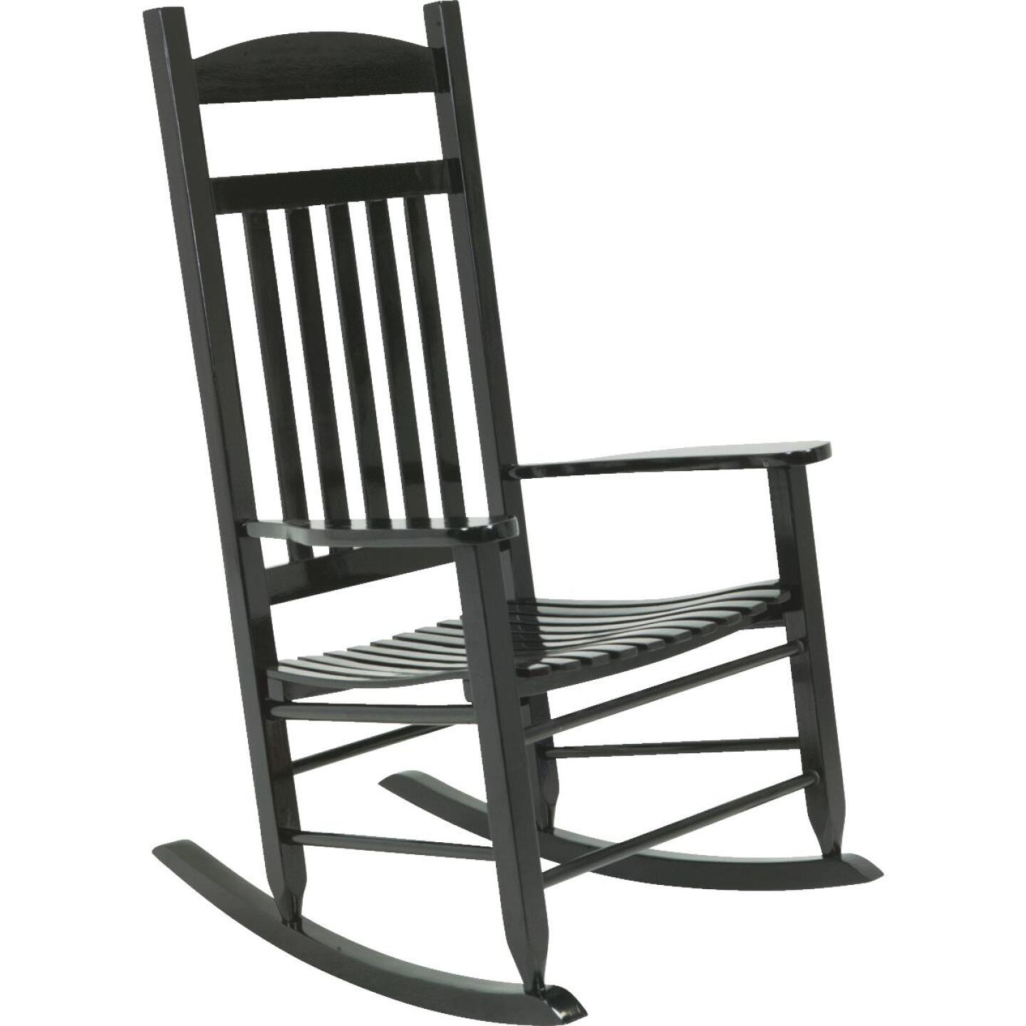 Knollwood Black Wood Mission Rocking Chair Image 3